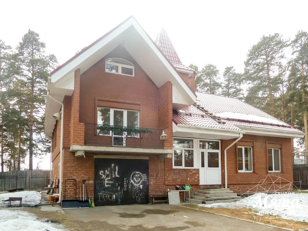 Дизайн фасада коттеджа 195 м2 4