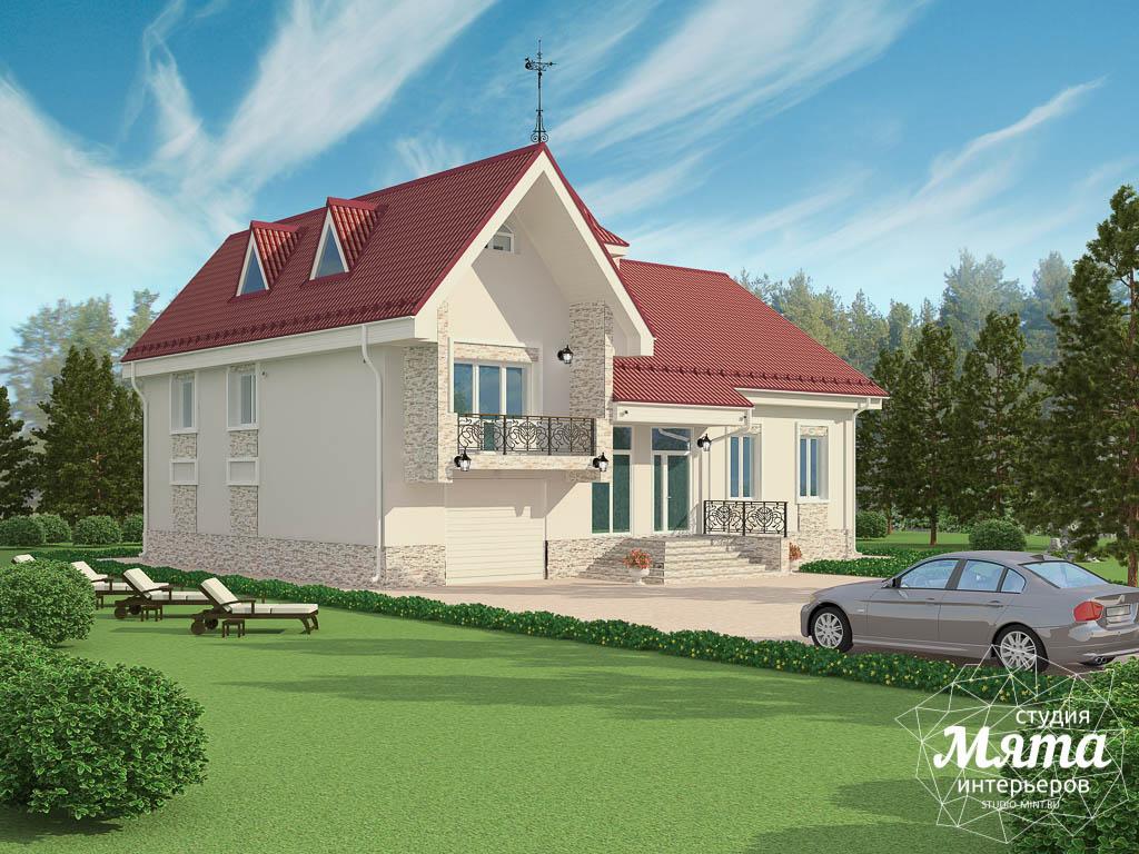 Дизайн фасада коттеджа 195 м2  Екатеринбург img1078905396