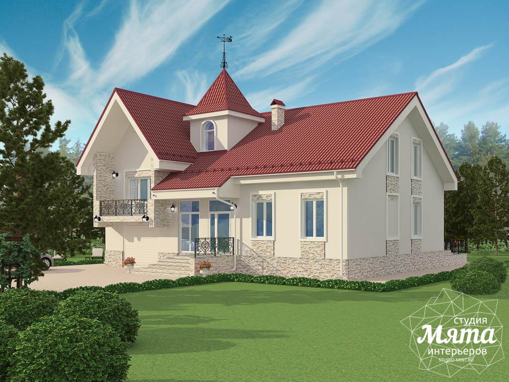 Дизайн фасада коттеджа 195 м2  Екатеринбург img1706957435