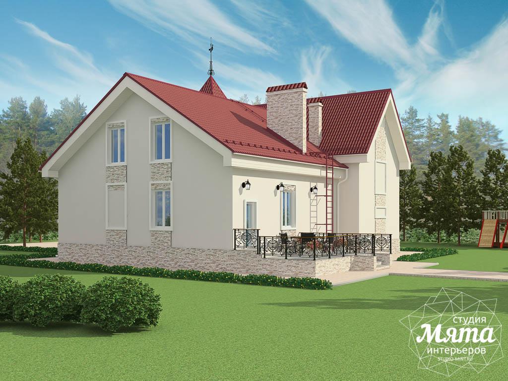 Дизайн фасада коттеджа 195 м2  Екатеринбург img808192771