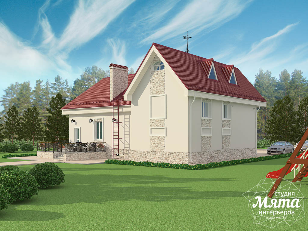 Дизайн фасада коттеджа 195 м2  Екатеринбург img378253529