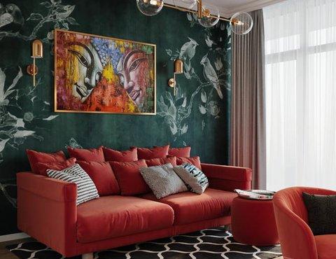 Дизайн интерьера трехкомнатной квартиры в ЖК Чемпион Парк